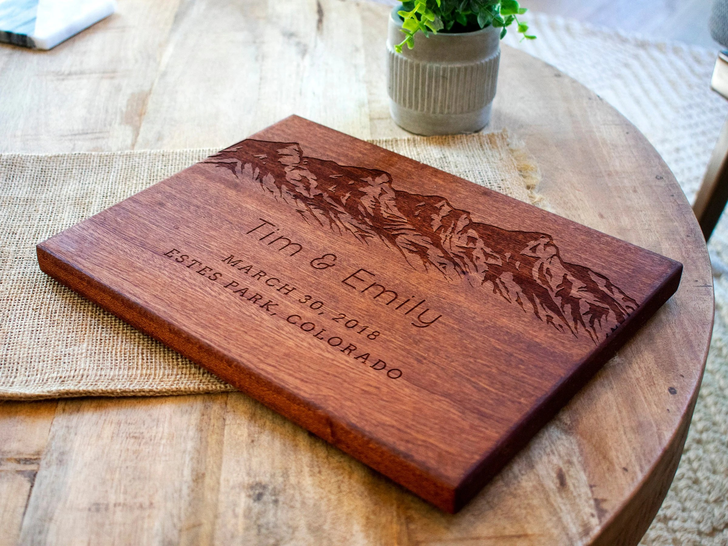 personalized cutting board engraved