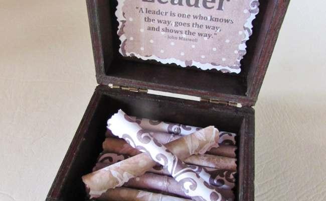 Leadership Scroll Box Leadership Gift Boss Gift Boss