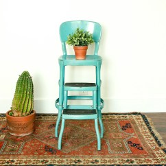 Chair Stool Retro Fishing In Step Etsy Vintage Industrial Metal Bar With Back Farmhouse Kitchen