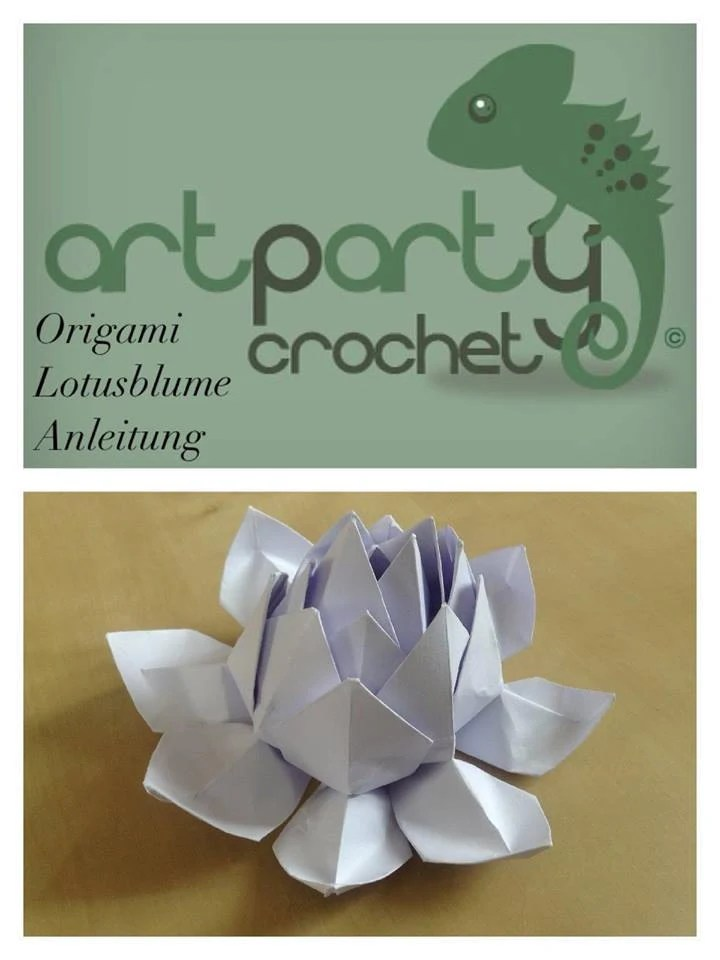 origami flower diagram in english arm muscles anatomy blank artparty lotus tutorial pattern etsy image 0