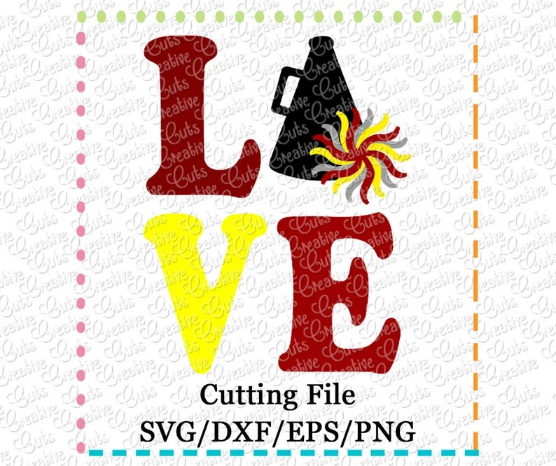 Download EXCLUSIVE SVG eps DXF Cutting File Love Cheer svg | Etsy