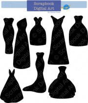 black dress silhouette clip art