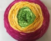 "244yds Worsted Weight Hand Spun Hand Dyed NZ Wool Yarn  - ""Sherbet"" Gradient"