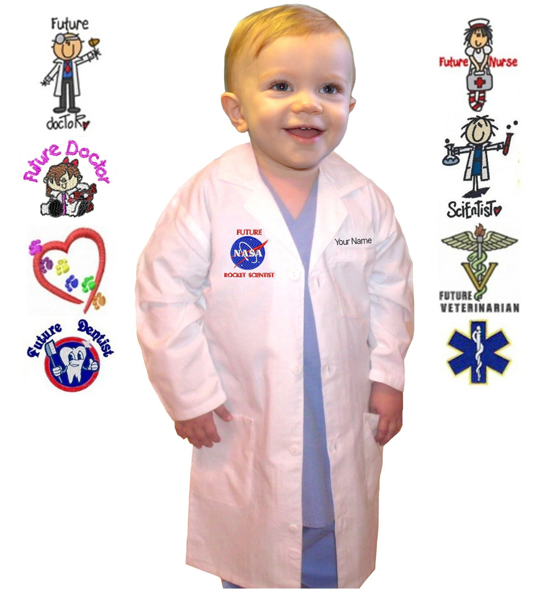 toddler lab coat with