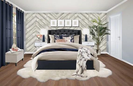 3d Rendering Glam Bedroom Online Interior Design Package Etsy