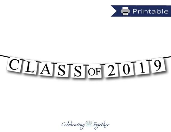 printable class of 2019