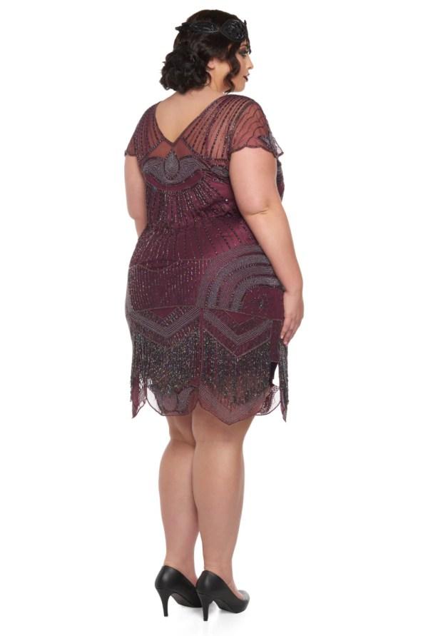 Size Beatrice Purple Plum Flapper Dress Slip Included