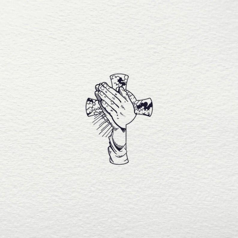 Praying Hands SVG Cross SVG Praying Hands Faith Svg Jesus