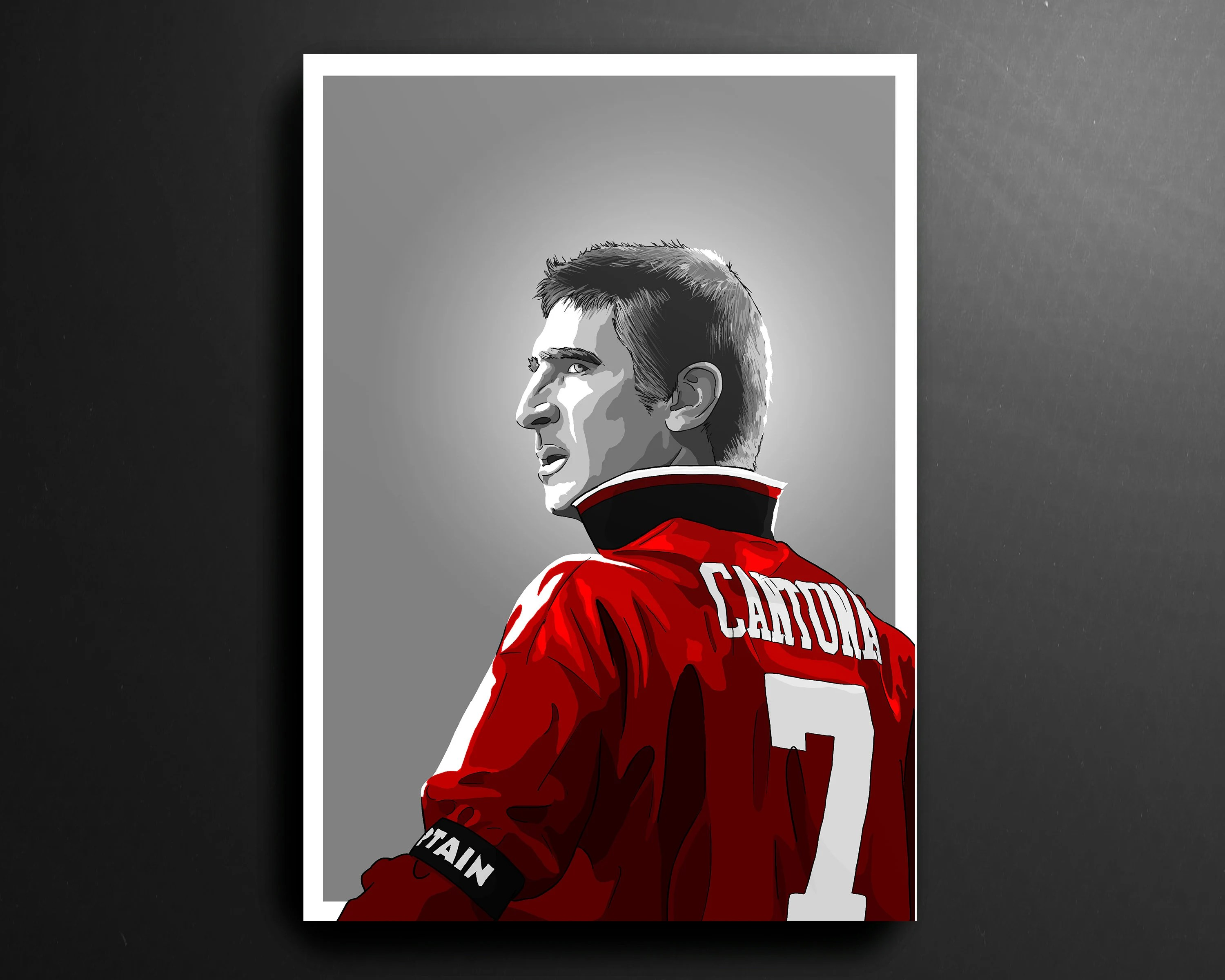 To say eric cantona was a manchester united great is an. Eric Cantona Manchester United Football Print Etsy