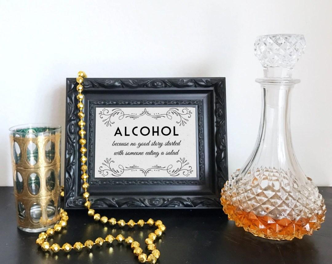 Printable Alcohol because...