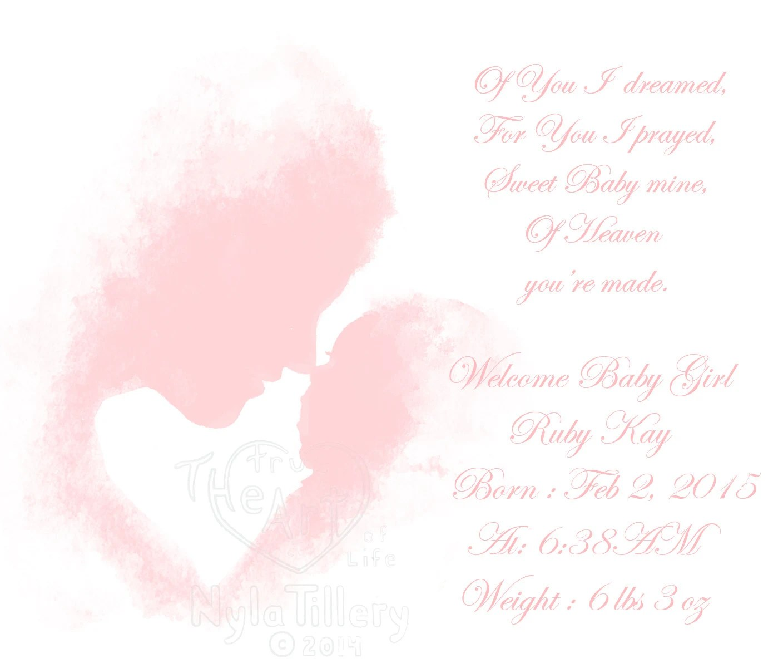 New Baby Girl Poems 2