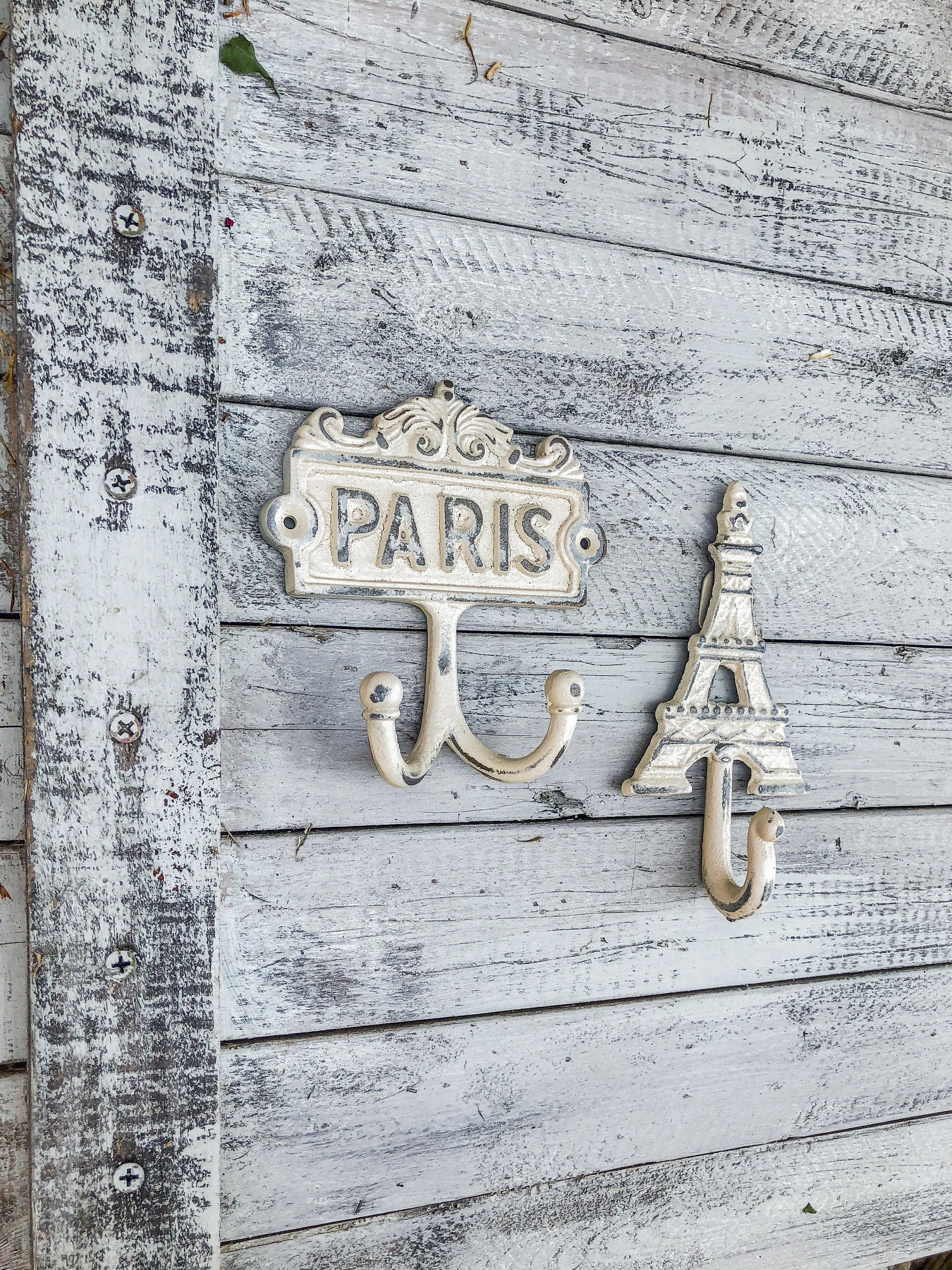 kitchen hooks table lighting etsy shabby chic wall paris decor french eiffel towed hook home art