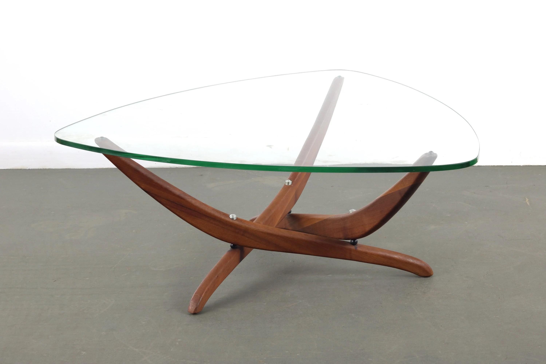 mid century modern forrest wilson glass coffee table