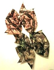 camo bow real tree camouflage hair