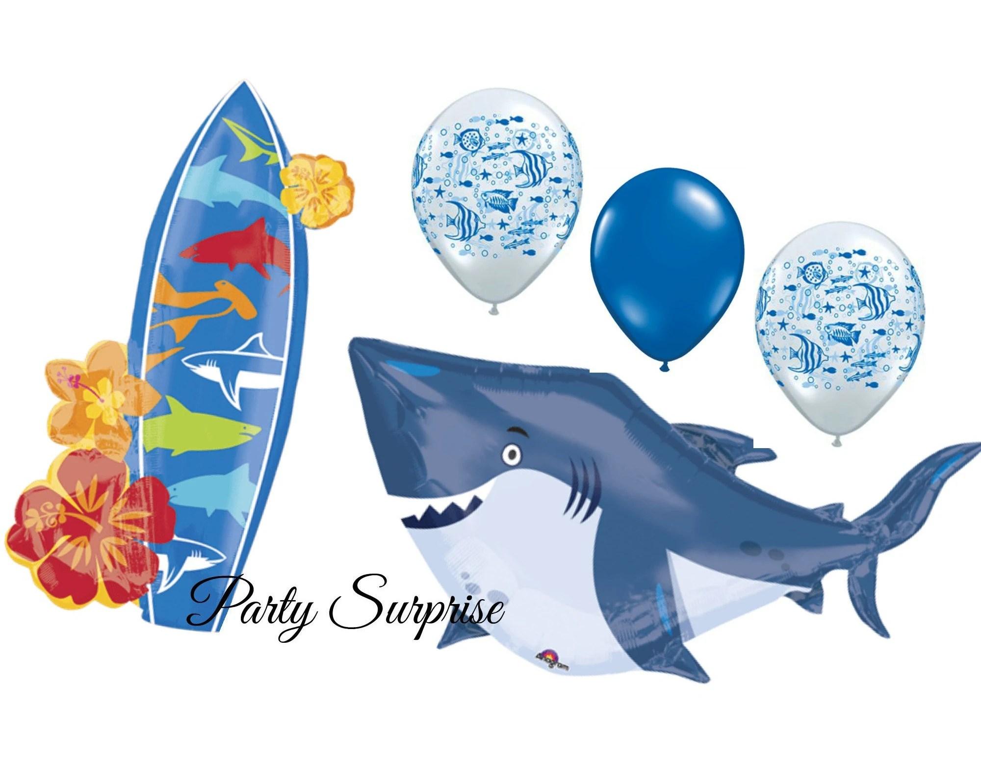 shark surboard fish balloon