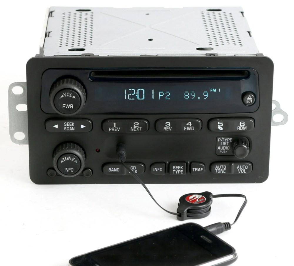 medium resolution of  2001 impala radio 2000 to 2005 chevy car am fm cd w aux input radio
