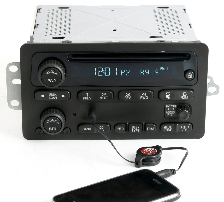 hight resolution of  2001 impala radio 2000 to 2005 chevy car am fm cd w aux input radio