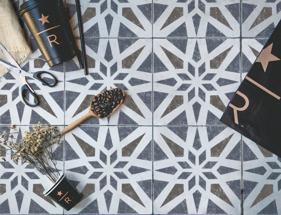 modern geometric tile stencil tile stencils floor wall etsy
