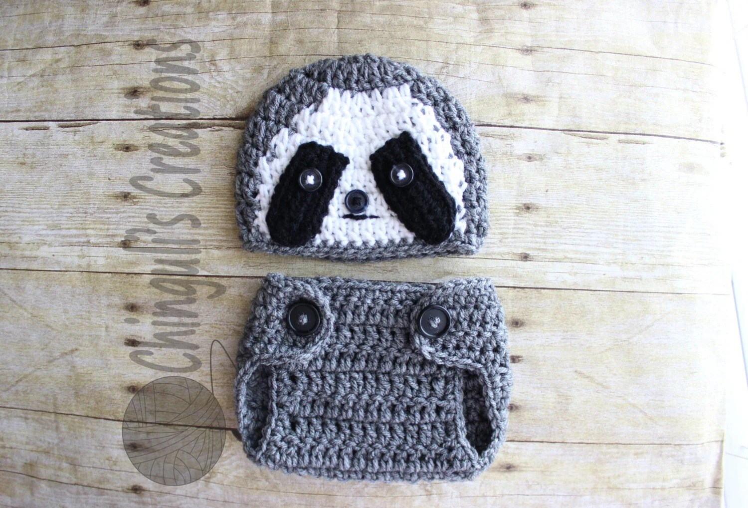 baby crochet sloth outfit