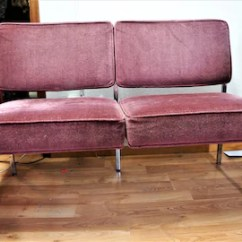 70s Sofa Small Sized Sectional Sofas 70 S Etsy Vng Chrome Framed Couch Or Love Seat Knoll 60s Mid Century Modern And Velvet Local Pick Up Only