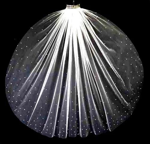 crystal cathedral wedding veil