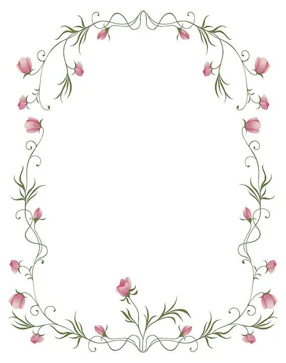 Instant Digital Download with Floral Rose Frame Vector  Etsy