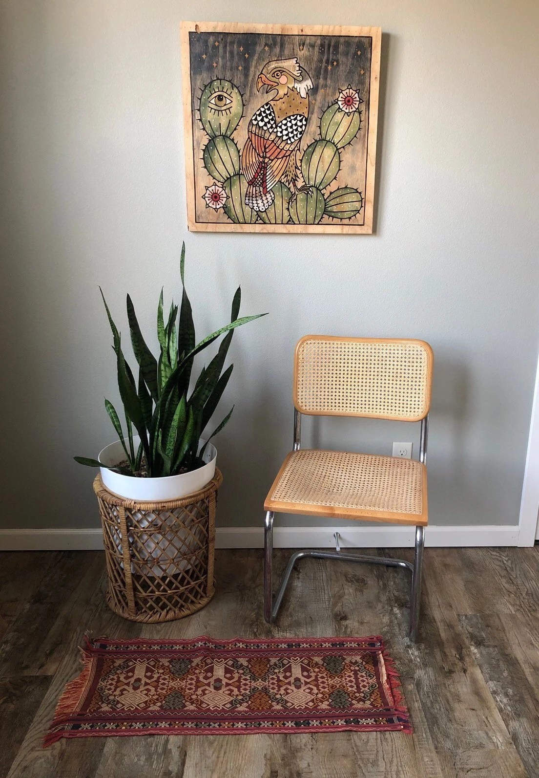 dining chairs with caning sling back patio cane etsy vintage marcel breuer style cesca cantilever chair