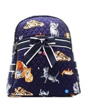 quilted kittens backpack with