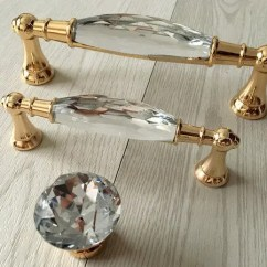 Glass Kitchen Door Handles Sink Undermount Drawer Pulls Etsy 3 75 5 Gold Crystal Handle Pull Knobs Rhinestone Dresser Cabinet 96 128 Mm Aroserambling
