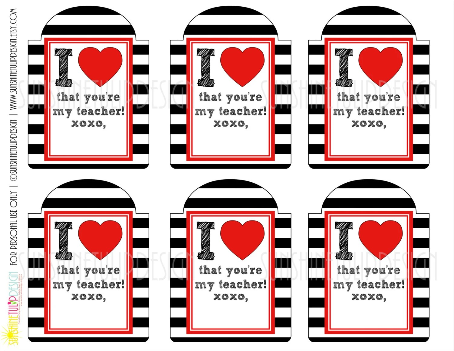 Printable Teacher Appreciation T Tags Welcome Back To
