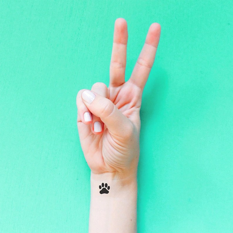Small Dog Paw Print Tattoo