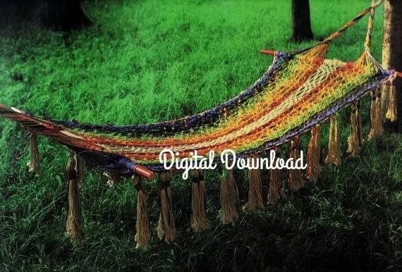 macrame hammock pattern classic