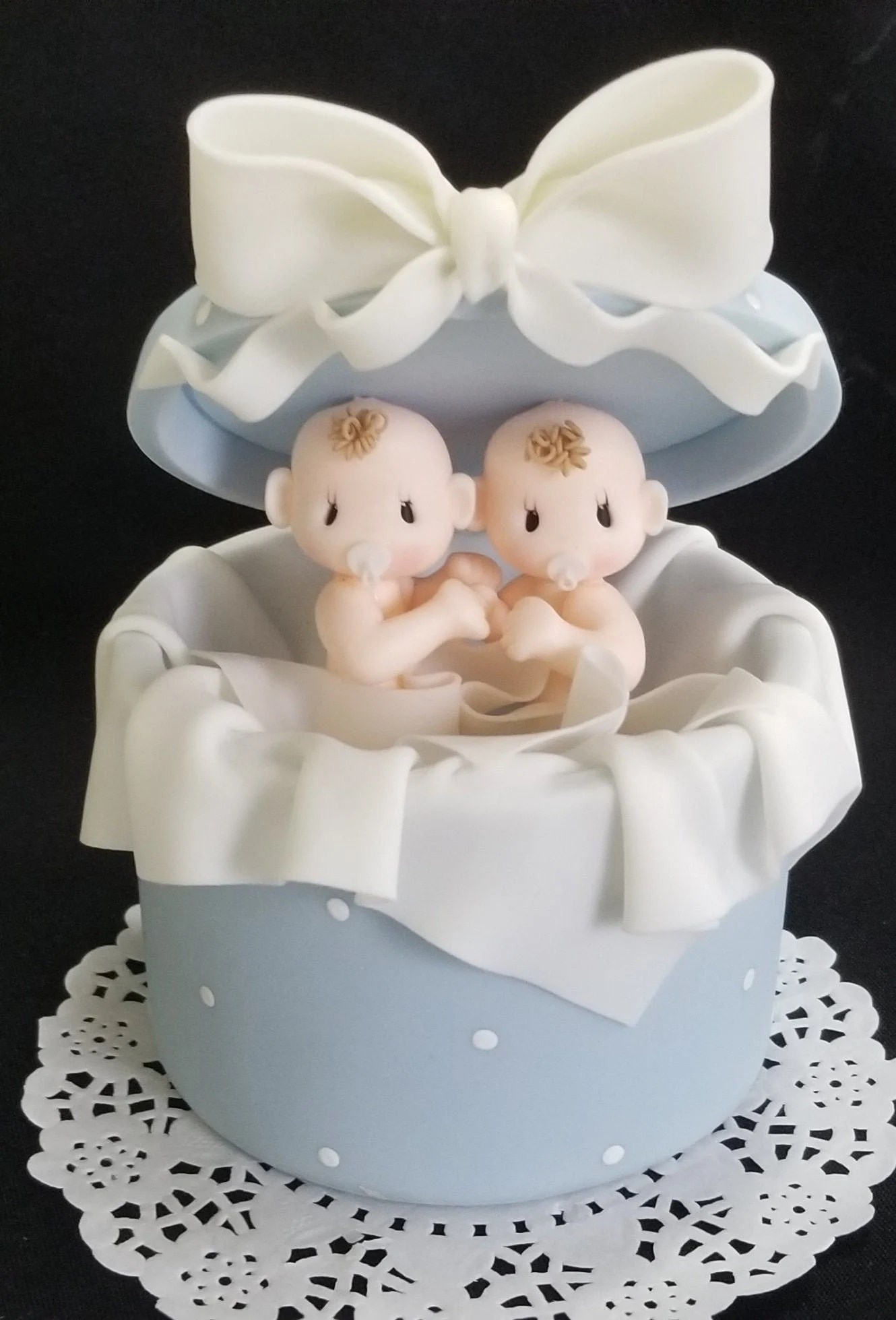 Baby Shower Cake For Twins : shower, twins, Twins, Shower, Topper