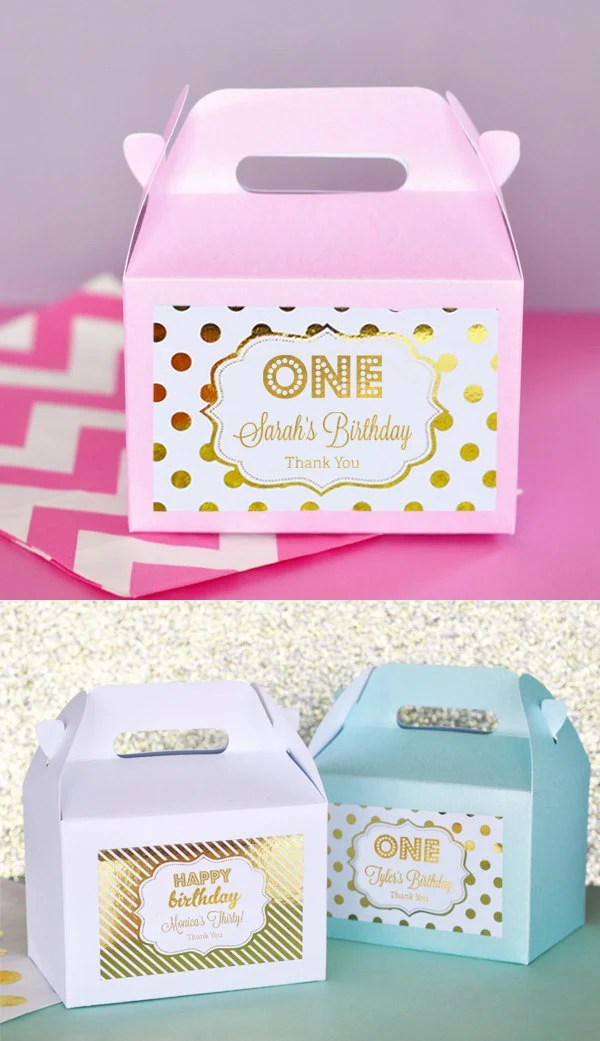 1st birthday party favors