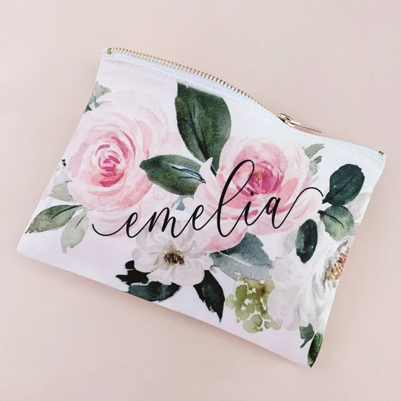 Flower Girl Makeup Bag Personalized