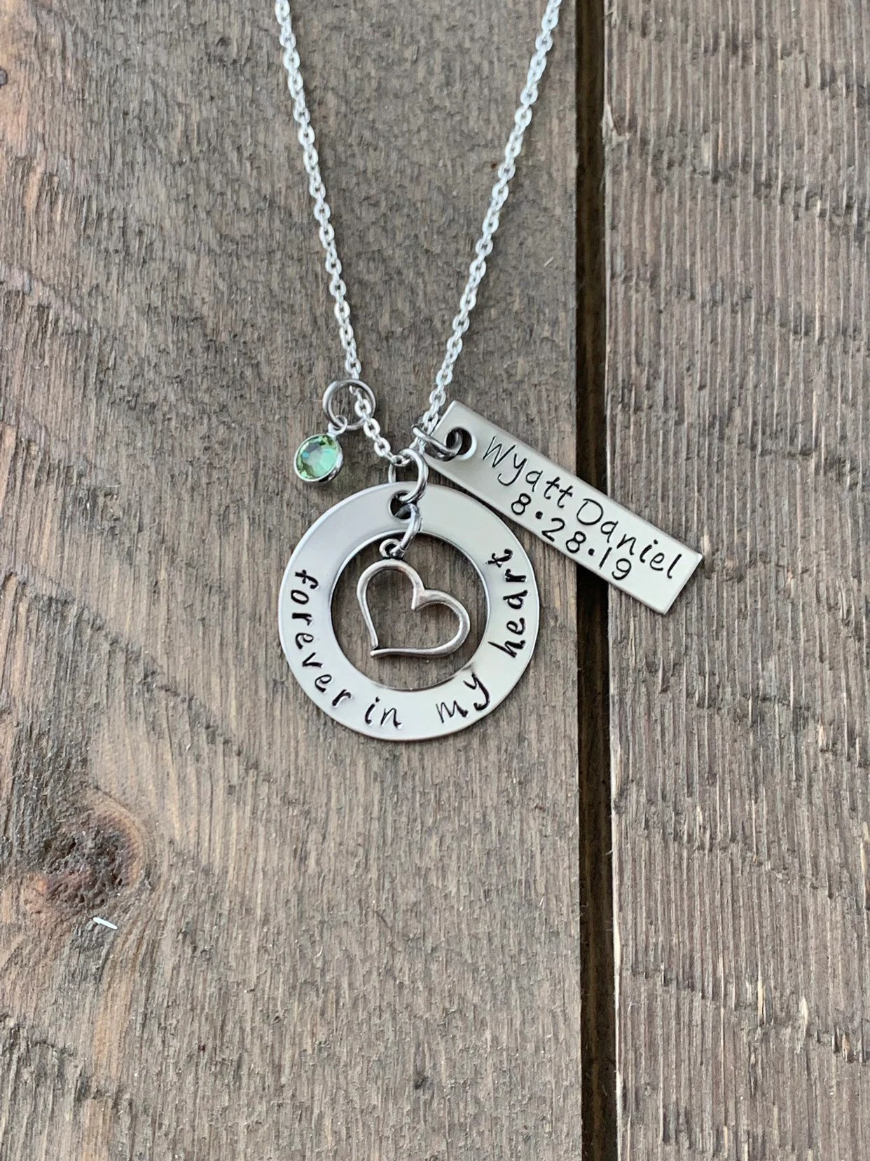 Miscarriage Memorial Jewelry : miscarriage, memorial, jewelry, Memorial, Stamped, Jewelry, Custom