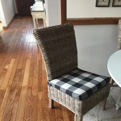 Cheap Seat Cushions For Chairs Chair Yoga Poses Elderly Etsy Rattan Or Wicker Plaid Black And Cream Anderson Fabric Replacement Cushion Rustic Pad Stool