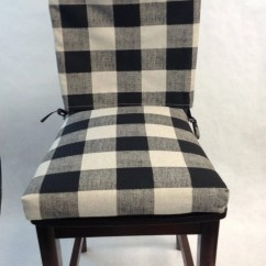 Dining Chair Seat Covers Etsy Anti Slip Mat Two Piece Dinning Back Cover And Cushion Buffalo Image 0