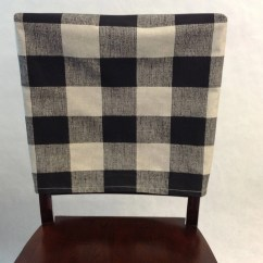 What Type Of Fabric To Cover Kitchen Chairs Walmart Folding Table And Chair Back Covers Anderson Black Linen Buffalo Plaid Check Etsy Image 0