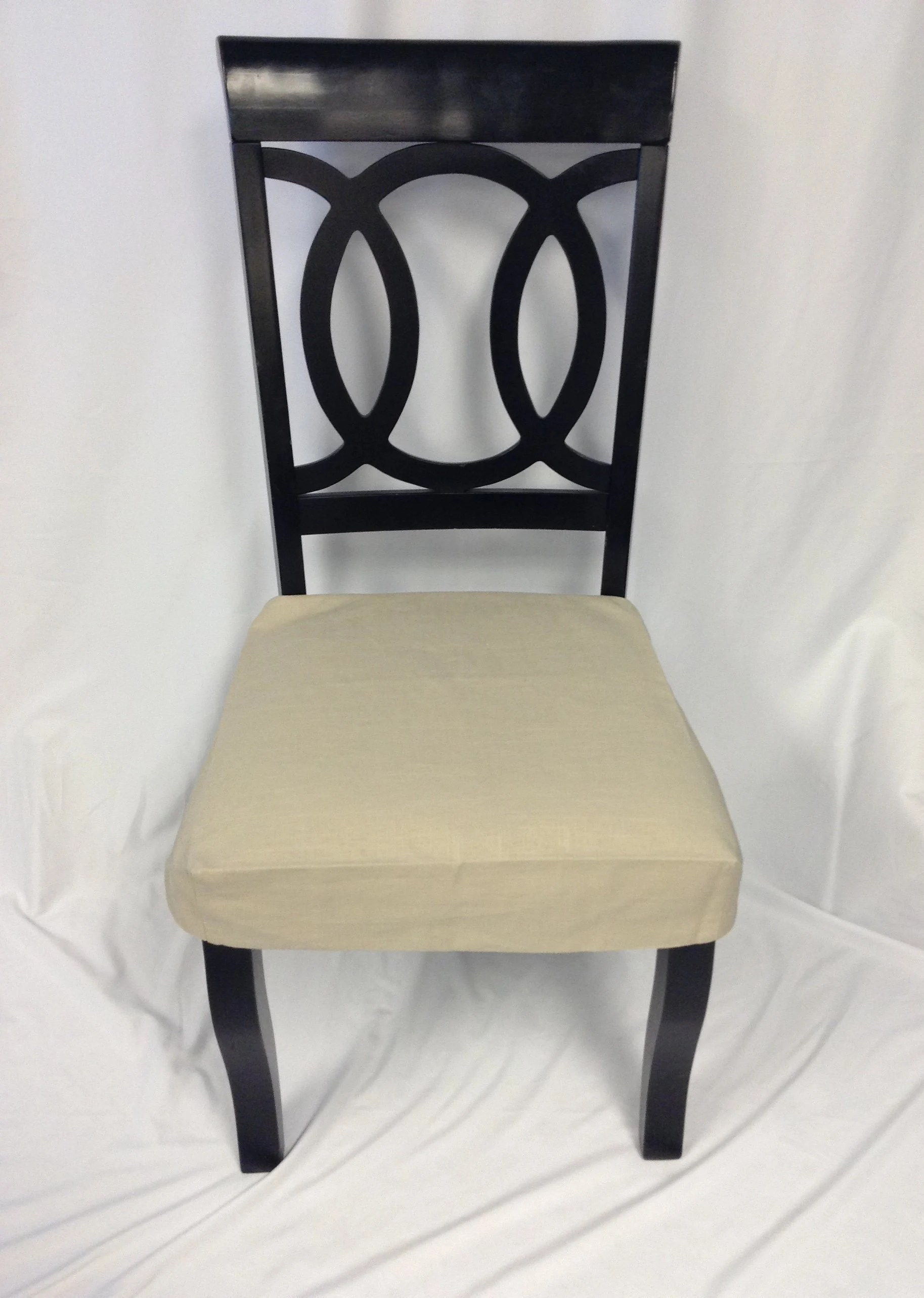Dining Chair Slipcover Dining Chair Slipcover For Armless Upholstered Chair Fitted And Lined Linen Dining Chair Apron With Ties Removable Covers Lined Slipcover