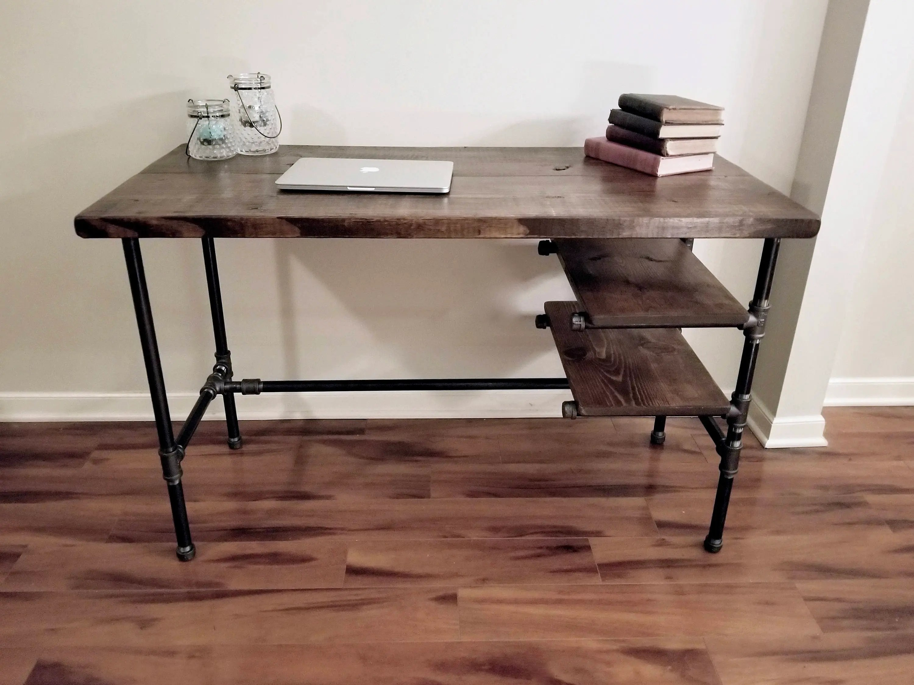 steel and wood desk