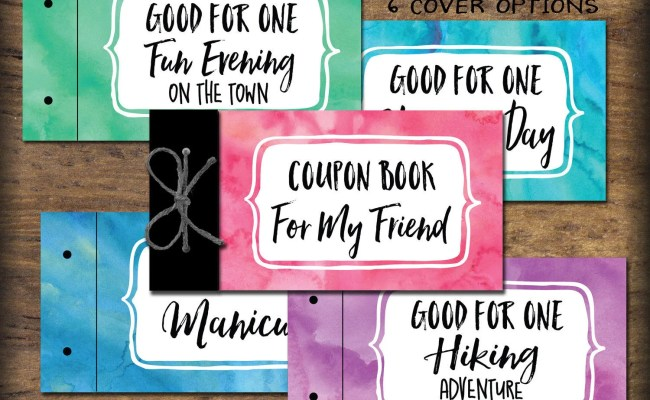 Friend Bff Coupon Book Printable Instant Download Gift