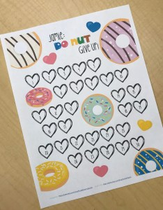 Weight loss motivational chart donut themed coloring goal printable also etsy rh
