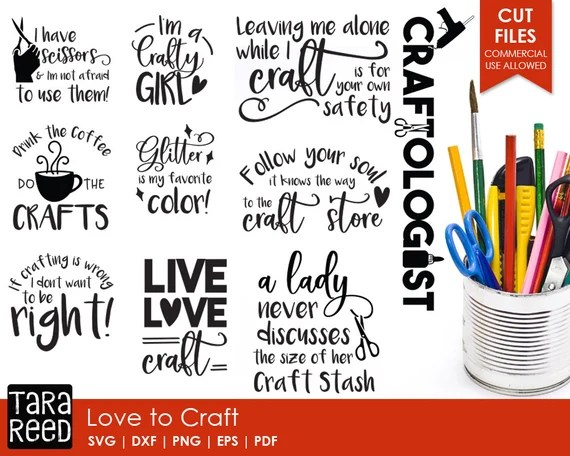 Download Love to Craft Crafting SVG and Cut Files for Crafters   Etsy