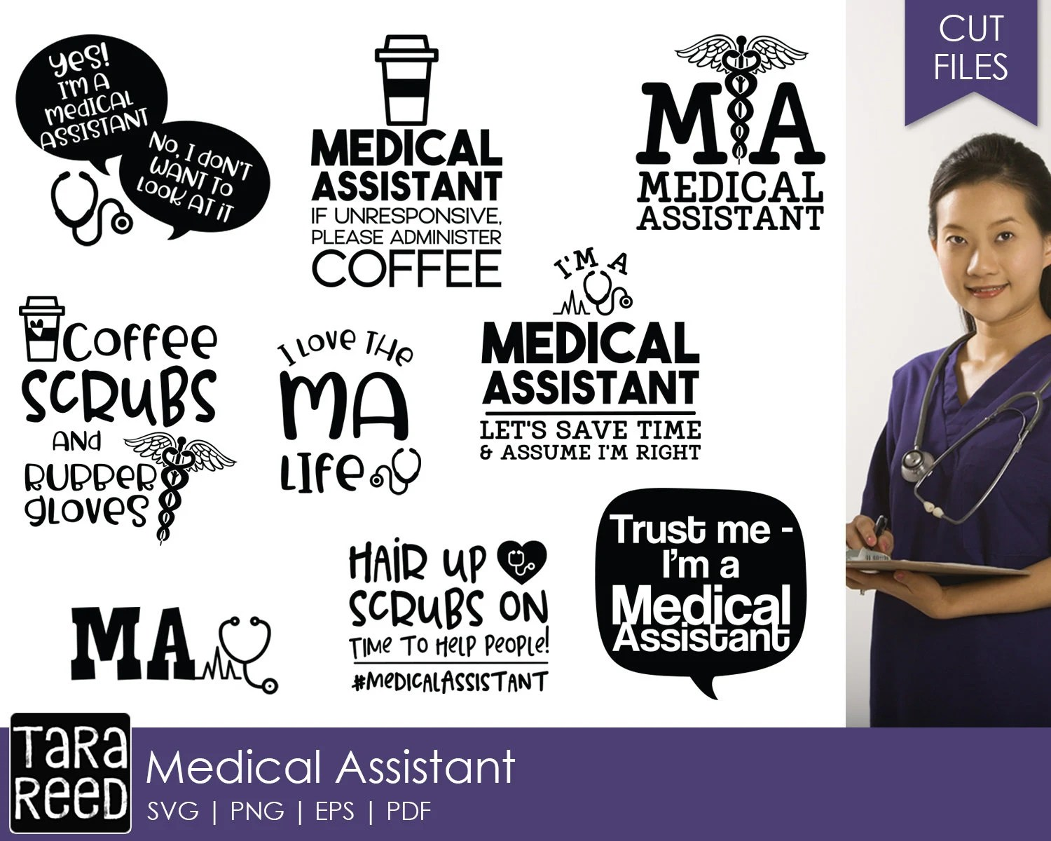 Medical Assistant Svg And Cut Files For Crafters