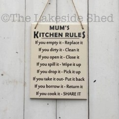 Kitchen Plaques Cabinet Degreaser Mum S Rules Signs Moms Sign Etsy Image 0
