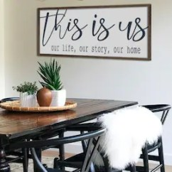 Art For Large Living Room Wall Grey Couch Setup Dining Etsy Farmhouse Decor This Is Us Sign Wood 48 X 20