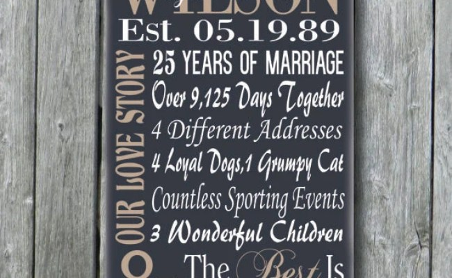 Personalized 5th 15th 25th 50th Anniversary Gift Wedding