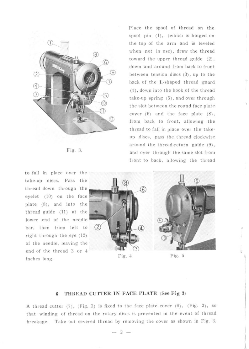 White Model 659 Sewing Machine Manual Instruction Booklet