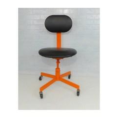 Orange Chair Salon Design Nigeria Office Black Mid Century Modern Vintage Dental Etsy Image 0